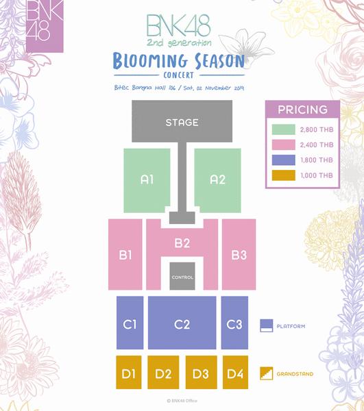 """รายละเอียอจองบัตรคอนเสิร์ต BNK48 รุ่น2 BNK48 2nd Generation Concert """"Blooming Season"""""""