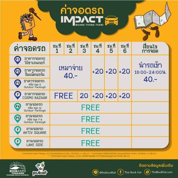 [แนะนำ] จุดบริการรถรับ-ส่งฟรี ไปงานหนังสือมหกรรมหนังสือแห่งชาติ ครั้งที่ 25 งานหนังสือเมืองทอง 2563